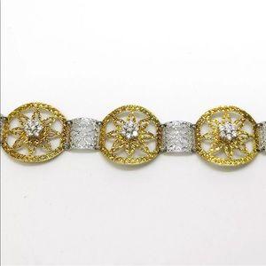 Jewelry - 14k White Gold on 925 Silver Link Bracelet